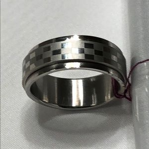 🌺 Quality Stainless Steel SpinnerRing Band Size 9